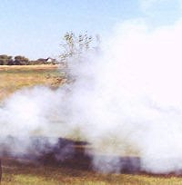 Mountain Howitzer smoke